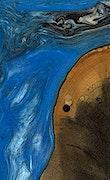 Kristen - iPhone Xs Max Wood+Resin Case - Kristen (Light Blue, 064984)