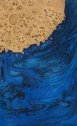 Lars - Pixel 3a Wood+Resin Case - Lars (Dark Blue, 076070)