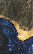 Lonna - iPhone Xs Max Wood+Resin Case - Lonna (Dark Blue, 083928)
