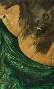 Lory - Pixel 3a Wood+Resin Case - Lory (Dark Green, 078906)