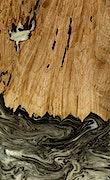 LouAnn - Pixel 3a Wood+Resin Case - LouAnn (Black & White, 078634)