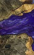 Lynda - iPhone Xs Max Wood+Resin Case - Lynda (Purple, 093127)