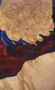 Madison - iPhone 8 Wood+Resin Case - Madison (Blue & Red, 114515)