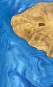 Mariet - iPhone 11 Pro Max Wood+Resin Case - Mariet (Light Blue, 111066)