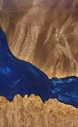 Marthena - Pixel 3a XL Wood+Resin Case - Marthena (Dark Blue, 103421)