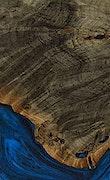 Miguela - iPhone Xs Max Wood+Resin Case - Miguela (Dark Blue, 068563)