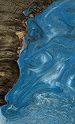 Morrie - iPhone Xs Max Wood+Resin Case - Morrie (Light Blue, 066479)