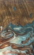 Nanci - Galaxy S9 Wood+Resin Case - Nanci (Teal & Gold, 117812)