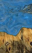 Nola - iPhone Xs Max Wood+Resin Case - Nola (Light Blue, 063818)