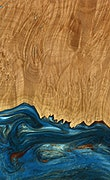 Norwalk - Pixel 3a Wood+Resin Case - Norwalk (Teal & Gold, 079457)
