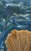 Nurettin - iPhone 8 Wood+Resin Case - Nurettin (Dark Blue, 114939)