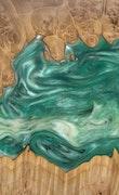 Octavio - iPhone 11 Pro Max Wood+Resin Case - Octavio (Dark Green, 113823)