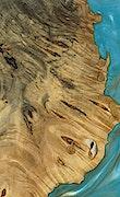 Orelee - iPhone 7 Plus Wood+Resin Case - Orelee (Teal & Gold, 079220)