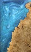 Paolina - Pixel 3a XL Wood+Resin Case - Paolina (Light Blue, 118113)