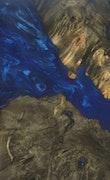 Pasadena - Pixel 3a XL Wood+Resin Case - Pasadena (Dark Blue, 103426)