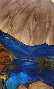 Philomena - iPhone 11 Pro Max Wood+Resin Case - Philomena (Dark Blue, 114970)