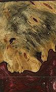 Praveen - iPhone 7 Plus Wood+Resin Case - Praveen (Dark Red, 074157)