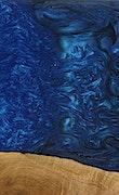 Rahal - iPhone 7 Plus Wood+Resin Case - Rahal (Dark Blue, 073515)
