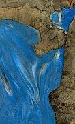 Randie - iPhone Xs Max Wood+Resin Case - Randie (Light Blue, 070987)