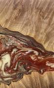 Rica - iPhone 8 Wood+Resin Case - Rica (Dark Red, 114522)
