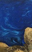 Robbie - iPhone Xs Max Wood+Resin Case - Robbie (Dark Blue, 070453)