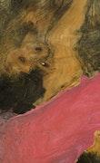 Roman - Pixel 3a XL Wood+Resin Case - Roman (Pink, 081169)