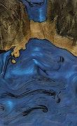 Saied - iPhone Xs Max Wood+Resin Case - Saied (Dark Blue, 069591)