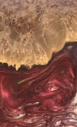 Salinas - iPhone 11 Pro Max Wood+Resin Case - Salinas (Dark Red, 114081)