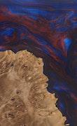 Sashenka - iPhone 11 Pro Max Wood+Resin Case - Sashenka (Blue & Red, 110738)
