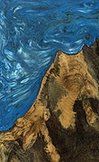 Saswata - Pixel 3a Wood+Resin Case - Saswata (Light Blue, 077699)