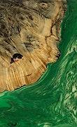 Seelan - Pixel 3a Wood+Resin Case - Seelan (Dark Green, 072456)