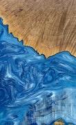 Sharron - Huawei Mate 20 Wood+Resin Case - Sharron (Light Blue, 114440)