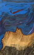 Sheri - iPhone Xs Max Wood+Resin Case - Sheri (Blue & Red, 068754)