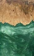 Sianna - iPhone 8 Wood+Resin Case - Sianna (Dark Green, 115020)