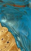 Sieber - Pixel 3a Wood+Resin Case - Sieber (Teal & Gold, 079462)