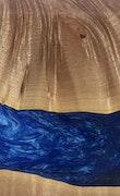 Tera - Galaxy S9 Wood+Resin Case - Tera (Dark Blue, 114324)
