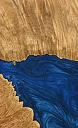 Theressa - Pixel 3a Wood+Resin Case - Theressa (Dark Blue, 077273)