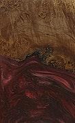 Tom - Pixel 3a Wood+Resin Case - Tom (Dark Red, 076871)