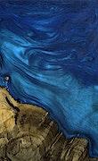 Tucson - Pixel 3a Wood+Resin Case - Tucson (Dark Blue, 078754)