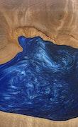 Warwick - Huawei Mate 20 Wood+Resin Case - Warwick (Dark Blue, 114213)