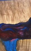 Wichita - iPhone 8 Plus Wood+Resin Case - Wichita (Blue & Red, 114317)
